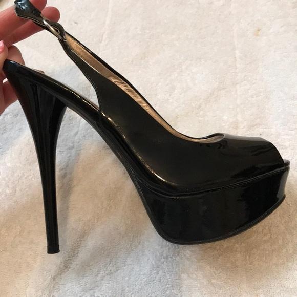 22aad9da8 Charlotte Russe Shoes | Peeptoe Platform Slingback Heels | Poshmark
